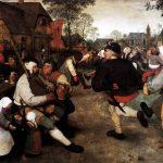 Pieter Bruegel il Vecchio. Danza dei contadini, 1568 circa. Olio su tavola, cm. 114 × 164. Museo della Storia dell'Arte, Vienna