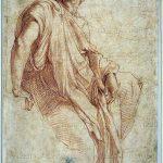 Raffaello. Studio per la Sibilla frigio, 1511-1512. Studio per la cappella Chigi in Santa Maria della Pace a Roma