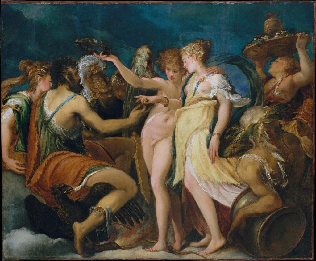 Andrea Schiavone. Nozze tra Cupido e Psiche, 1550 ca. The Metropolitan Museum of Art, New York, © 2015 Image copyright. Resource Scala, Firenze