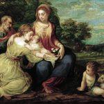 Andrea Schiavone. Sposalizio mistico di Santa Caterina, 1542 – 1544. Olio su tela, cm cm 95 x 118. Kunsthistorisches Museum Gemäldegalerie © Vienna