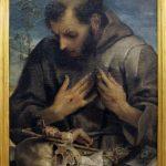 Annibale Carracci. San Francesco in adorazione del crocefisso, 1585. Olio su tela, cm. 75 x 57