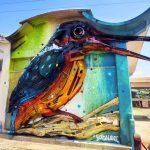 Bordalo II. Installazione di Guarda Rios, 2015