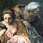 Francesco Albani. Nascita della Vergine, 1599 - 1601 (dettaglio) . Olio su tela, cm. 327 x 175