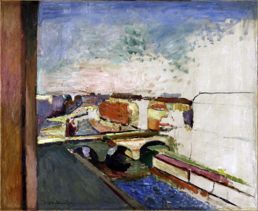 Henri Matisse. Pont Saint-Michel, 1900 ca., Olio su tela, 58x71 cm - Collection Centre Pompidou, Paris Musée national d'art moderne - Centre de création industrielle
