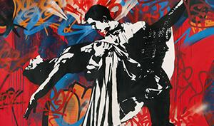 Blek le Rat. Coppia di ballerini - Mostre a Milano 2016