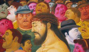 Botero Gesu e la folla - 2010 - particolare