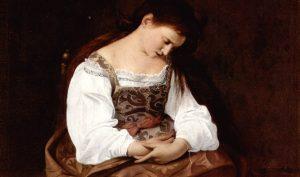 Caravaggio. Maddalena penitente, 1594-1595. Olio su tela, cm. 122,5 X 98,5. Galleria Doria Pamphilj, Roma