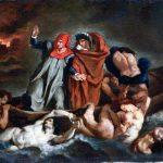 Édouard Manet, La barca di Dante (dopo Delacroix), 1854-1858. Olio su tela, cm. 38 × 46. Museo delle Belle Arti, Lione