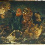 Eugène Delacroix. Edouard Manet. La barca di Dante (dopo Delacroix), 1859 ca. Olio su tela, cm. 33 × 41. Metropolitan Museum of Art, New York