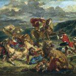 Eugène Delacroix. La caccia al leone, 1861. Olio su tela, cm. 76 x 98. © The Art Institute of Chicago, Illinois Potter Palmer Collection