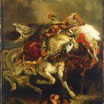 Eugène Delacroix. Combattimento del Giaurro e Hassan, 1835. Olio su tela, cm. 73.7 x 61. Petit Palais, Musée des Beaux-Arts de la Ville de Paris. © Roger-Viollet / REX