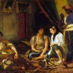 Eugène Delacroix. Donne di Algeri nel loro appartamento, 1847 - 49. Olio su tela, cm. 85 x 112. © Museo Fabre, Montpellier