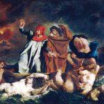 Eugène Delacroix. La barca di Dante, 1822. Olio su tela, cm. 189 X 246. Museo del Louvre, Parigi