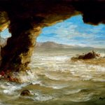 Eugène Delacroix. Naufragio al largo della costa, 1862. Olio su tela, cm. 38.1 × 45.1. © The Museum of Fine Arts, Houston, Texas / Foto Bridgeman