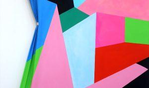 Nicola Melinelli. Senza titolo, 2015. Olio su tela, gancio, cm. 185 x 130. Galleria Car Drde, Bologna