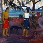 Eugène Delacroix. Paul Gauguin. I Raro Te Oviri (sotto il Pandano), 1891. Olio su tela, cm. 73.7 × 91.4. © The Minneapolis Institute of Art - The William Hood Dunwoody Fund