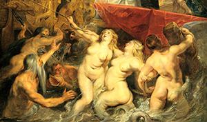 Peter Paul Rubens. L'arrivo della regina a Marsiglia, 1600 (dettaglio)