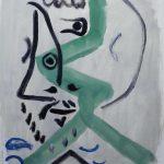 Picasso. Moschettiere, 1964. Olio su tela, cm. 55 X 46. Cà la Ghironda Modern Art Museum