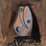 Picasso. Testa di donna, 1943. Olio su cartone intelato, cm. 66 X 51