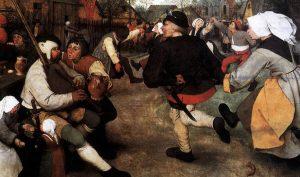 Pieter Bruegel il Vecchio. Danza dei contadini, 1568 circa, (dettaglio)
