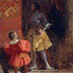 Eugène Delacroix. Richard Parkes Bonington. Il cavaliere e il paggio, 1826 ca. Olio su tela, cm. 46,4 X 38,1. Yale Center for British Art - New Haven, Connecticut