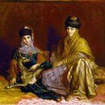 Eugène Delacroix. Théodore Chassériau. Donna e bambina di Costantino con una gazzella 1849. Museo delle Belle Arti, Houston, Texas. Acquisto con i fondo di dotazione Agnes Cullen Arnold