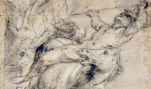 Tiziano Vecellio. Un cavaliere e cavallo in atto di cadere. Ashmolean Museum, Oxford