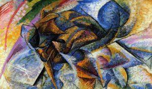 Umberto Boccioni. Dinamismo di un ciclista, 1913