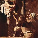 Caravaggio a Roma. Madonna di Loreto o Madonna dei Pellegrini, 1604-1606. Olio su tela, cm. 260×150. Basilica di Sant'Agostino in Campo Marzio