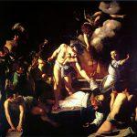 Caravaggio a Roma. Martirio di San Matteo, 1600-1601. Olio su tela, cm. 323×343. Chiesa di San Luigi dei Francesi