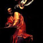Caravaggio a Roma. San Matteo e l'angelo, 1602. Olio su tela, cm. 295×195. Chiesa di San Luigi dei Francesi