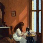 Edward Hopper. Ragazza alla macchina da cucire, 1921. Olio su tela, cm. 48 × 46. Thyssen-Bornemisza Museum, Madrid