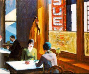 Edward Hopper. Chop-Suey, 1929. Olio su tela, cm. 81,3x96,5. Collection de Barney A. Ebsworth