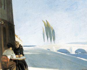 Edward Hopper. L'enoteca, 1909. Olio su tela, cm. 61x73,3. Whitney Museum of American Art, Lascito Josephine N. Hopper , ©Eredi di Josephine N. Hopper, autorizzato da the Whitney Museum of American Art