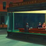 Edward Hopper. Nottambuli, 1942. Olio su tela, cm. 84.1×152.4. Art Institute of Chicago