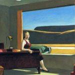Edward Hopper. Western-Motel, 1957. Olio su tela, cm. 77.8 x 128.3. Yale University. Lascito di Stephen Carlton Clark, B.A