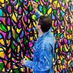JonOne. L'artista al lavoro nel suo Atelier, 2015