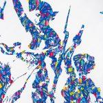 """JonOne. Libertà, Uguaglianza, Fraternità, 2015. Acrilico su tela, cm. 200 x 300. Da Eugene Delacroix """"La libertà che guida il popolo"""". © Bruno Brounch"""