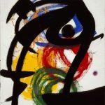Joan Miró . Personaggio, uccello II, 1973. Olio su tela, cm 65 x 54. Collezione privata, © Successió Miró by SIAE 2016