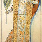 Alphonse Mucha. Gismonda, 1894. Ritratto di Sarah Bernard per il Théâtre de la Renaissance di Parigi