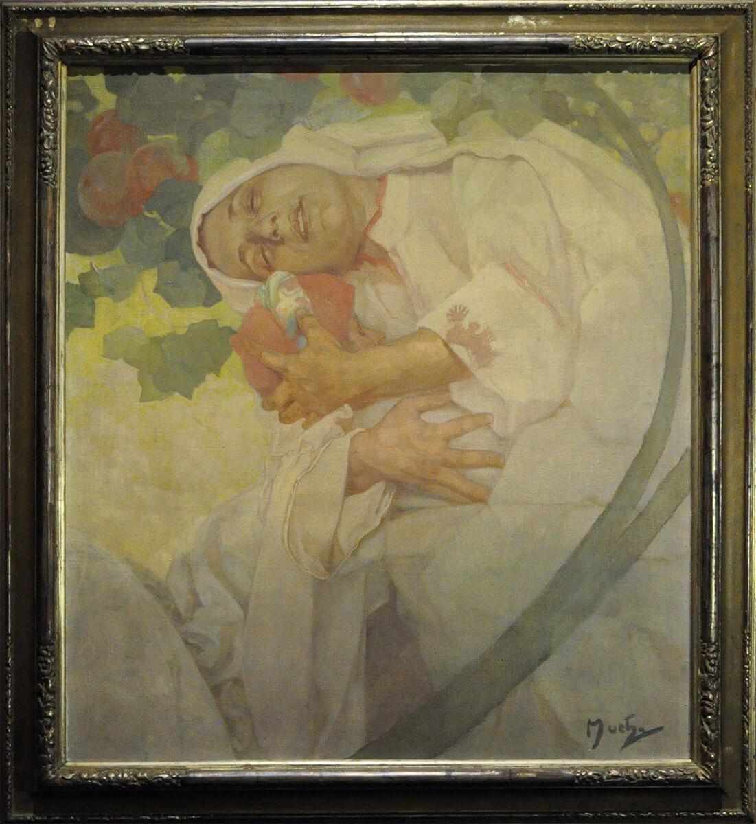 Alfons Mucha. Dreaming, 1897. Richard Fuxa Foundation, foto © Richard Fuxa Foundation