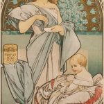 Alfons Mucha. Manifesto per Nestlés Food for Infants, 1897. Litografia a colori, cm 72x34,5. Foto Katarte