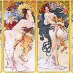 AlfonsMucha. Rappresentazione delle 4 stagioni. 1895