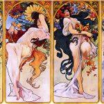 Alfons Mucha. Rappresentazione delle 4 stagioni