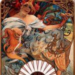 Alfons Mucha. Biscuits Lefèvre-Utile, 1896. Litografia a colori, cm 62 × 43,5 Richard Fuxa Foundation Foto: © Richard Fuxa Foundation