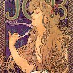 Alphonse Mucha. Manifesto pubblicitario per le cartine di sigarette Job-Cigarettes, 1897. Litografia