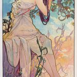 Alphonse Mucha. Le stagioni – Estate – 1896. Serie di quattro pannelli decorativi. Litografie a colori