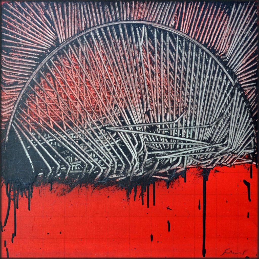 Scanavino. L'Arco, 1972. Olio su tela, cm 60x60