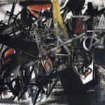 Emilio Vedova. Immagine del tempo (Sbarramento), 1951. Tempera d'uovo su tela, cm 130,5 x 170,4. Venezia, Collezione Peggy Guggenheim
