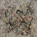 Da Kandinsky a Pollock. Jackson Pollock. Numero 18, 1950. Olio e smalto su masonite, cm 56 x 56,7. New York, Museo Solomon R. Guggenheim. Donazione, Janet C. Hauck